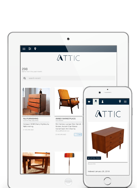 Homepage screenshot of ATTIC DC, a marketing and local commerce application and platform