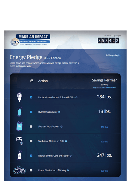 Responsive iPad Tablet View of Global Pledge Form