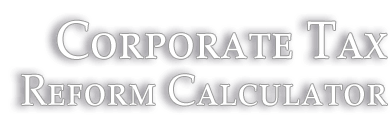 Website Case Study: Corporate Tax Reform Calculator