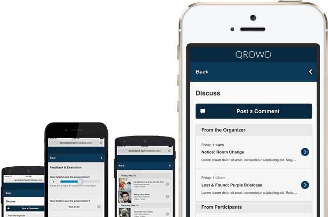 Qrowd on mobile devices