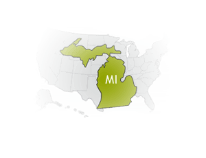 Map of Michigan, United States