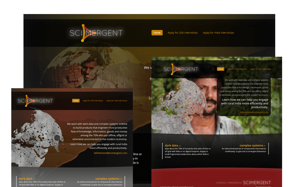 Website Screenshot: Scimergent