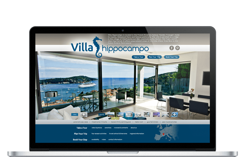 Homepage Website Redesign for Luxury Vacation Property